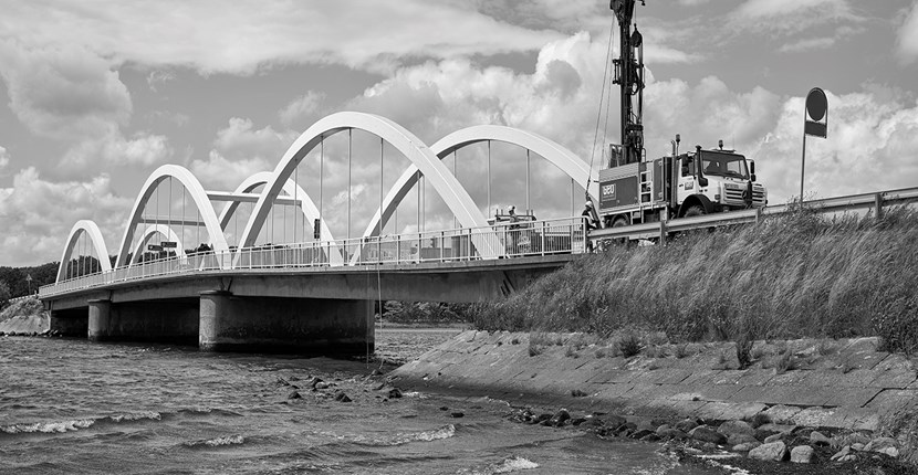 Geotechnical investigations for the Munkholm Bridge's subsidence